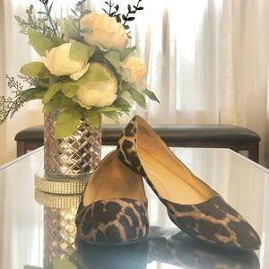 Nine West Leopard Animal Print Pointy Toe Flats 7M